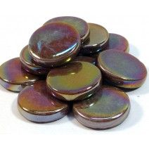 18mm Round - Chocolate Pearlised - 50g