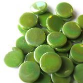 18mm Round - Green Grass Pearlised - 50g
