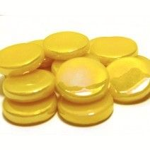 18mm Round - Lemon Sherbet Pearlised - 50g