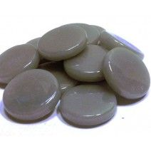 18mm Round - Light Grey Gloss - 50g
