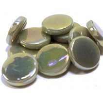 18mm Round - Light Grey Pearlised - 50g