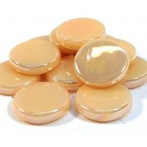 18mm Round - Light Peach Pearlised - 50g