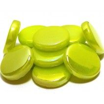 18mm Round - Lime Green Pearlised - 50g