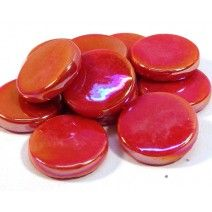 18mm Round - Red Pearlised - 50g