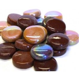 20mm Round Tiles - Chocolate Mix - 50g