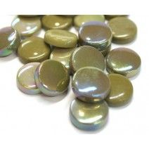 20mm Round Tiles - Khaki Mix - 50g