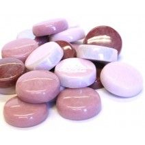 20mm Round Tiles - Pink Mix - 50g
