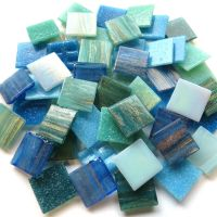 20mm Square Mix - Aqua Vita - 100g