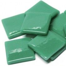 25mm Square Tiles - Emerald Green - 50g