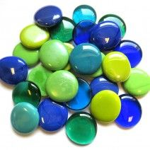 6 Extra Large Pebbles - Bluey Green Mix