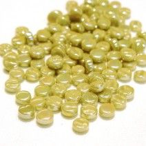 8mm Round - Light Khaki Green Pearlised - 50g