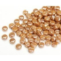 8mm Round - Toffee Pearlised - 50g