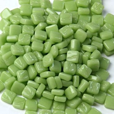 8mm Square Tiles -  Apple Green Gloss - 50g