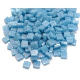 8mm Square Tiles - Baby Blue Matte 50g