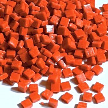 8mm Square Tiles - Burnt Orange Matte - 50g