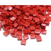 8mm Square Tiles - Chilli Red Matte 500g