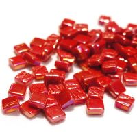 8mm Square Tiles - Chilli Red Pearlised - 500g