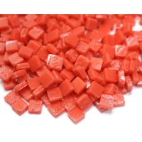 8mm Square Tiles - Coral Red Matte - 500g
