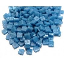 8mm Square Tiles - Delphinimum Blue Matte 50g