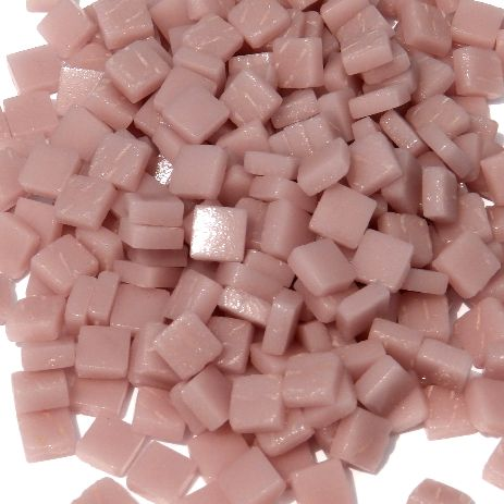 8mm Square Tiles - Dusky Pink Matte - 50g
