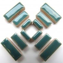 Ceramic Rectangle - Teal Green - 50g