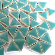 Ceramic Triangle - Teal Green - 50g