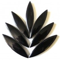 Large Ceramic Petal - Black (8 Tiles)
