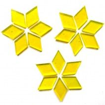 Large Diamond - Clear Yellow - 20pcs (approx. 25g)