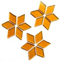 Large Diamond - Golden Amber - 20pcs (approx. 25g)