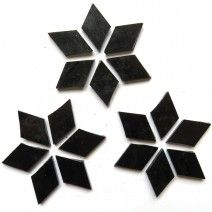 Large Diamond - Pure Black - 20pcs (approx. 25g)