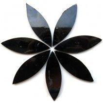 Large Petal - Pure Black - 7 Pieces (25g)