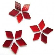Small Diamond - Clear Scarlet - 18pcs (approx. 10g)