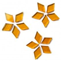 Small Diamond - Golden Amber - 18pcs (approx. 10g)