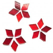 Small Diamond - Light Red - 18pcs (approx. 10g)