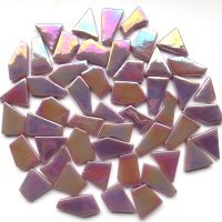 Snippets Glass Shapes - Lilac Iridised - 100g
