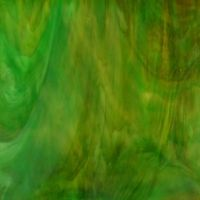Stained Glass Strips - Amber Green Wispy