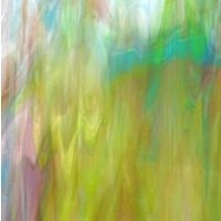 Stained Glass Strips - Mimosa Iridescent Wispy
